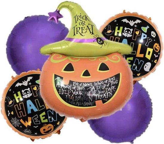 Pompoen-Halloween-Folie-Ballonnen-Set(5stuks)