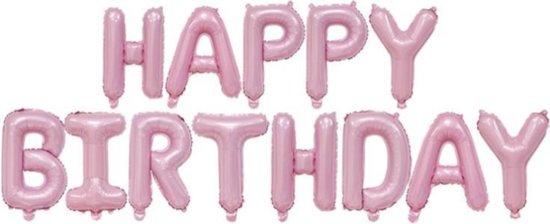 Happy Birthday Folie ballon Roze Slinger Feestversiering Decoratie