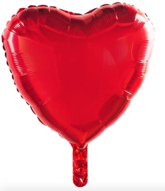 Folie ballon hart | helium | heart | gift | valentijn | moederdag | party | rood/ red