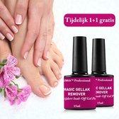 Premium Magic Soak Off Gellak Remover - Eenvoudig soak off gel polish verwijderen - Shellac Nagellakremover - Tijdelijk 1+1 gratis