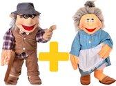 Living Puppets handpoppen opa en oma 65cm