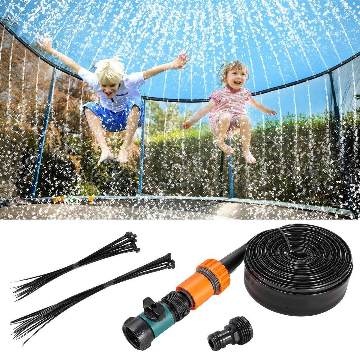 Trampoline sproeier, trampoline sproeier watersproeier trampoline accessoires leuke zomer outdoor waterpark spel voor kinderen (12 m)