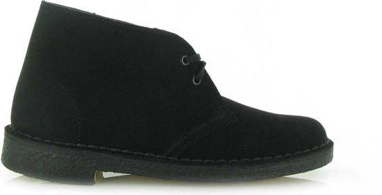 Clarks Desert Boot Black Suede - Zwart - Laarzen - Heren - Maat 41.5