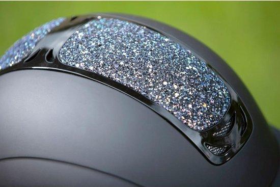 Veiligheidshelm cap Glamour zwart / zilver maat S 52 - 54 cm