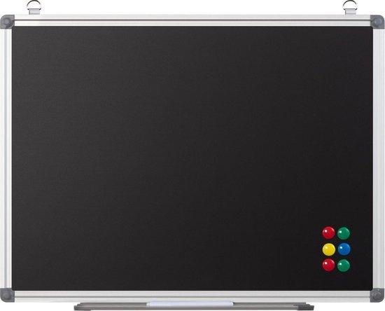 Magnetisch Krijtbord Met Lijst - Hangend Blackboard Schoolbord - Wand/Muur Chalkboard - Krijt Schrijfbord/Tekenbord/Planbord/Memobord - Kalkbord Voor Keuken/School/Kantoor/Horeca - Inclusief Legbord & Magneten - 60x45 CM Groot