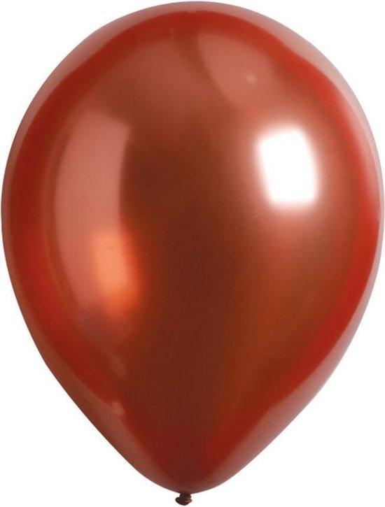 Amscan Ballonnen 27,5 Cm Latex Koperrood 50 Stuks