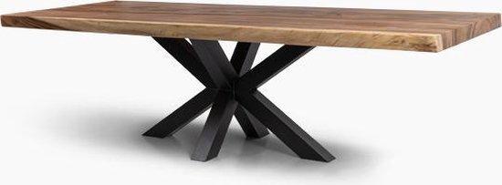 Bol Com Woodzen Suar Houten Tafel 220x90x70cm Matrix Poot Suar Hout Tafel Bureautafel