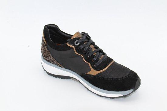 Xsensible Stretchwalker dames sneaker zwart brons maat 39
