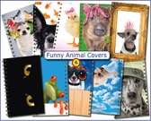 Cover Setje voor Schoolagenda A5 nr.6 FUNNY ANIMALS