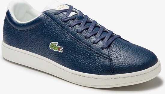 Lacoste Carnaby Evo 0120 2 SMA Heren Sneakers - Navy/White - Maat 44