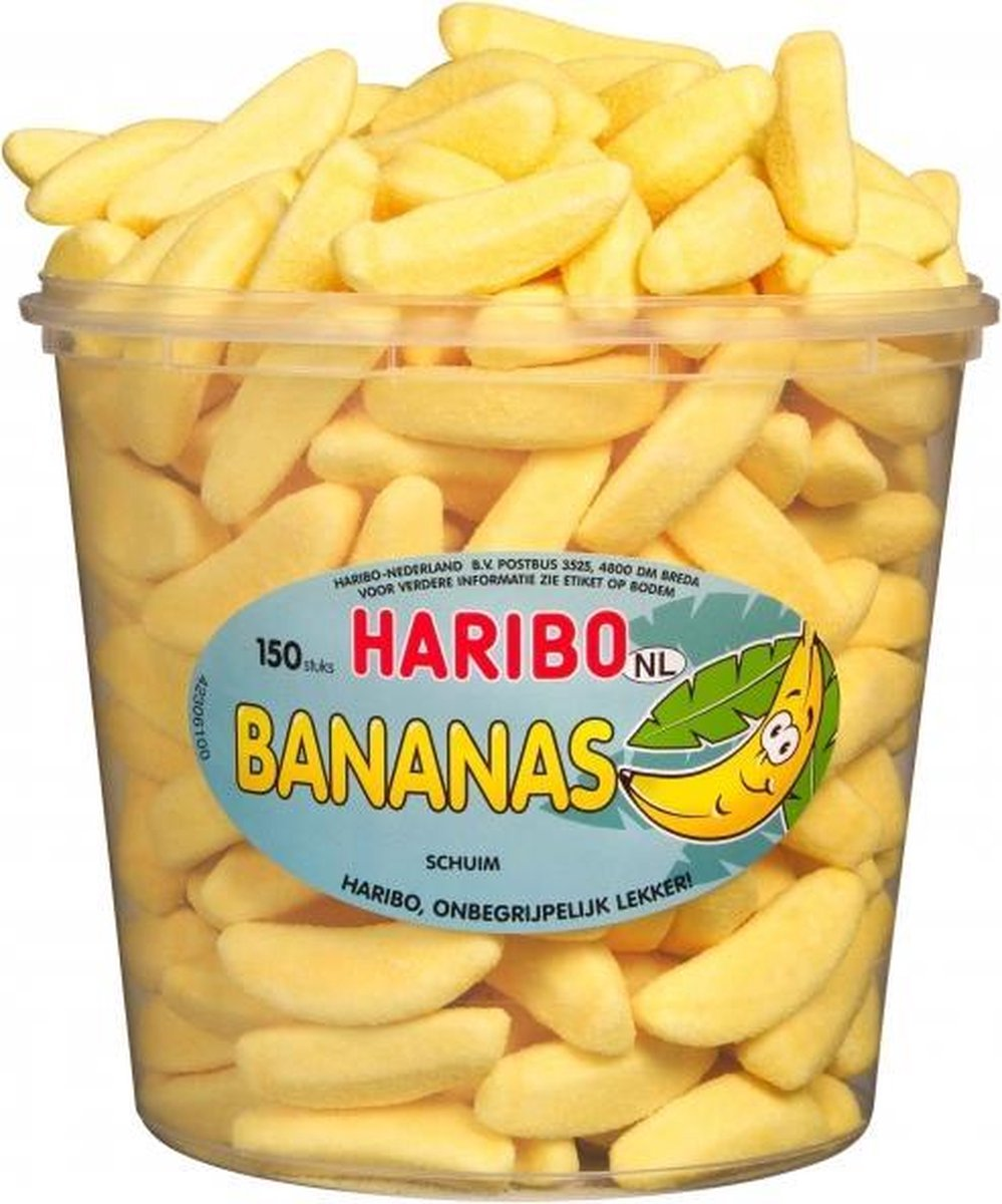 Haribo Bananas | 1350 gram | 150 stuks