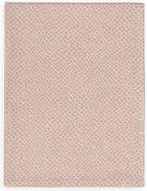 Jollein WIeg laken Snake 75x100cm - pale pink