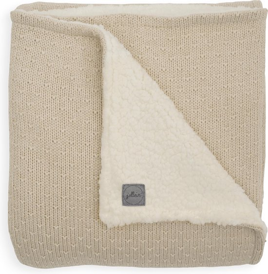 Product: Jollein Wieg Deken Teddy 75x100cm - Bliss Knit - Nougat, van het merk Jollein