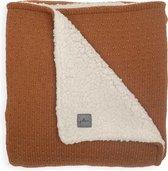 Jollein Ledikant deken teddy Bliss knit 100x150cm - caramel