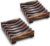 Elegante Zeephouder Zeepbakje Van Hout – zeepbakje zeepschaaltje – zeephouder hout – zeepbakje hout – zeepbakje douche