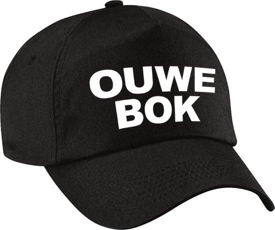 Ouwe bok verjaardag pet / cap zwart voor heren - 50 jaar - baseball cap - Abraham - verjaardagscadeau petten / caps