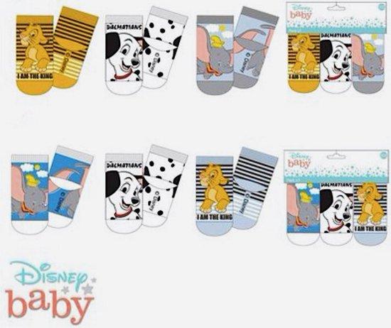 6 paar BABY sokjes maat 0/6 maanden