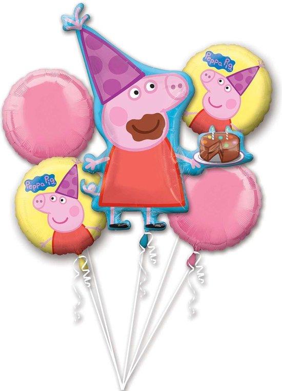 Peppa Pig Helium Ballon Set 5 delig leeg