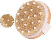 TimeCares Dry Brushing Huidborstel - Anti Cellulitis Borstel - Lichaamsborstel met Natuurlijke Haren - Badborstel - Doucheborstel - Detox Massage Brush - Duurzaam en Huidvriendelijk