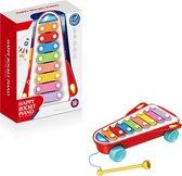 Speelgoed Xylofoon Rood met Geluid – Baby   Xylofoon Piano -  Speelgoed Kind   Speelgoed Piano met Geluid   Xylofoon - Baby – 30 x 22 x 9 cm