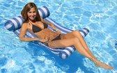 Luxe Waterhangmat - Hangmat  - Luchtbed - Luchtmatras Zwembad - Waterspeelgoed - Water hangmat - Blauw