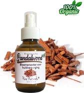 Sandelhout Bloemen water 100 ml   Sandalwood Hydrolaat   100% Puur   Biologisch   Roomspray   Bodyspray   Gezichtstonic   Gezichtsreiniging tonic   Huidverzorging   Pure Naturals
