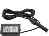 2in1 Digitale Hygrometer en Thermometer incl. Sensor - Zwart