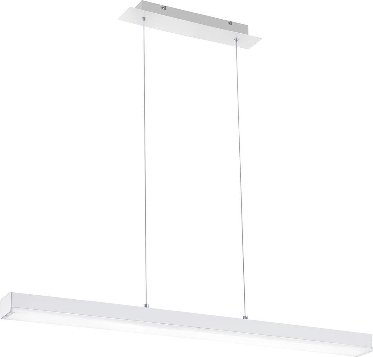 LED Hanglamp WiZ - Smart LED - Hangverlichting - Trion Lavar - 20W - Aanpasbare Kleur - RGBW - Rechthoek - Mat Wit - Aluminium - BSE