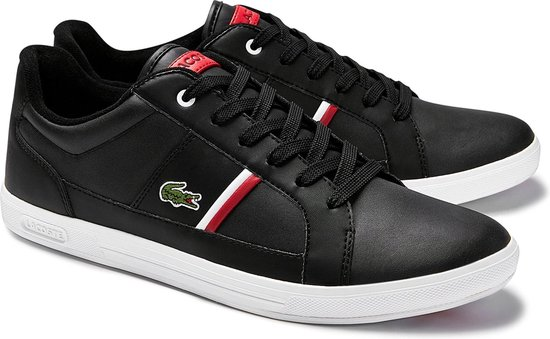 Lacoste Europa 0120 1 SMA Heren Sneakers - Black/White - Maat 43