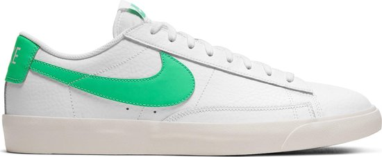 Nike Blazer Low Leather Heren Sneakers - White/Green Spark-Sail - Maat 40