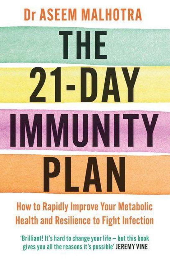 Boek cover The 21-Day Immunity Plan van Dr Aseem Malhotra (Onbekend)
