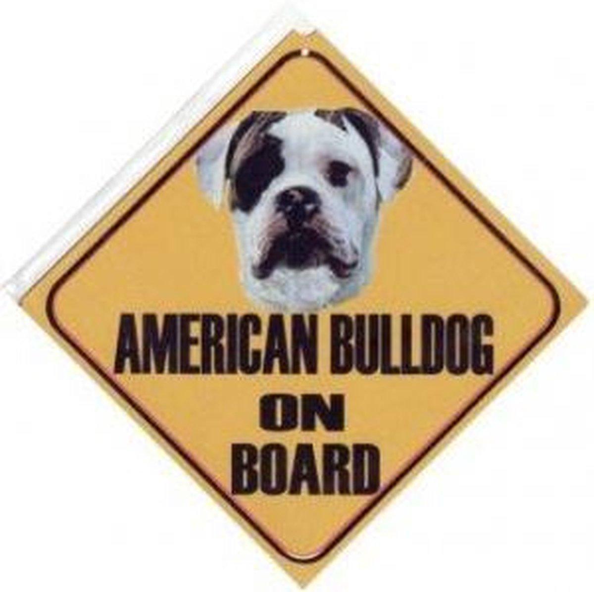 Autobordje Amerikaanse Bulldog Vooraanzicht kopen