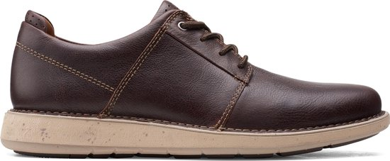 Clarks Un LarvikLace2 Heren Veterschoenen - Brown Oily - Maat 40