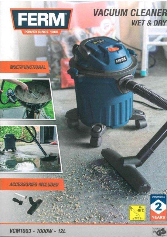 Ferm Vacuum cleaner Wet&Dry - nat en droogzuiger - stofzuiger - aszuiger