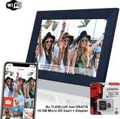Innovu - Jessica WiFi Digitale Fotolijst 10 inch Touchscreen Zwart Frameo App