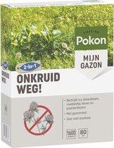 Pokon Onkruid Weg! - Gazonmest met Onkruidbestrijder - Voor 80m² (1600gr)