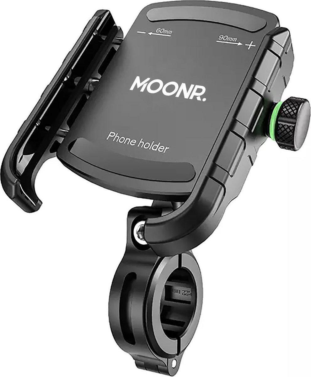 MOONR - Telefoonhouder fiets - GSM houder fiets - Universeel - Zwart