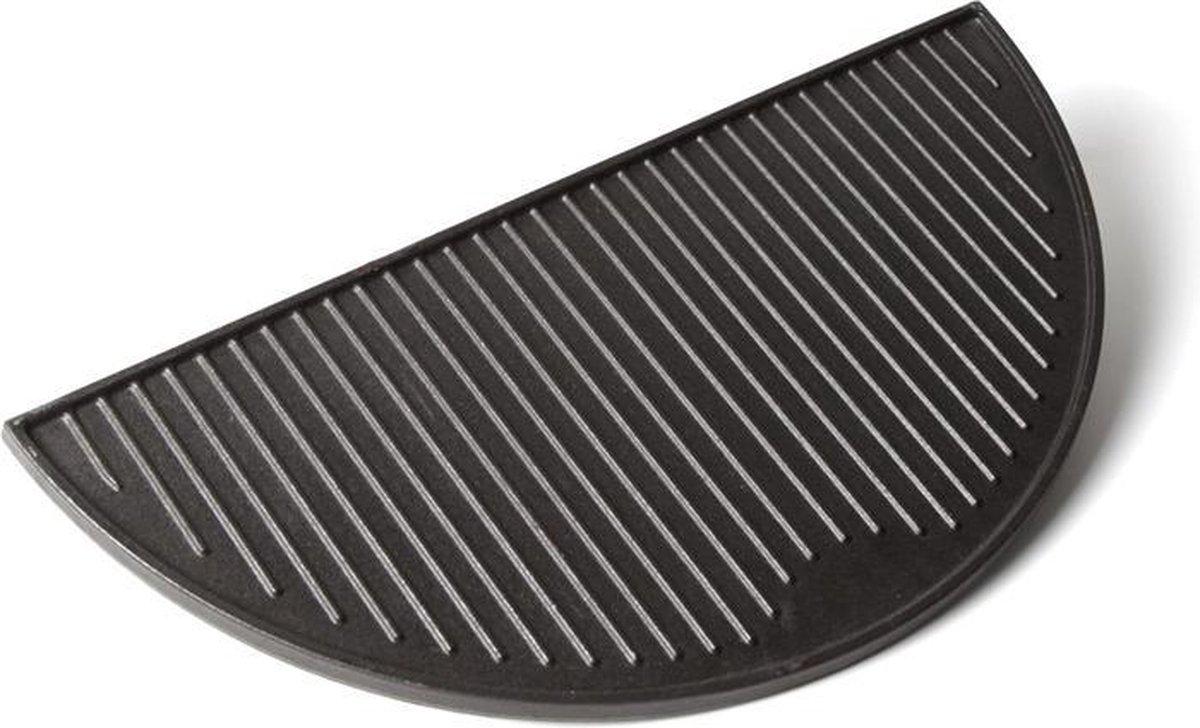 Gietijzeren grillplaat, half rond - XL (49,5 cm)