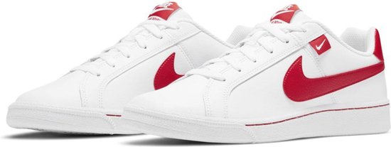 Nike  Nike Court Royale  Sneakers - Maat 44.5 - Mannen - wit,rood