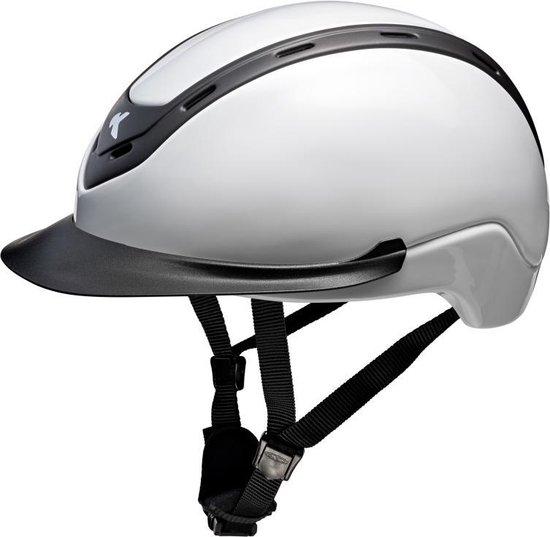 Nomic L white glossy, Ked's nieuwste model met hoofomtrek 57-62cm
