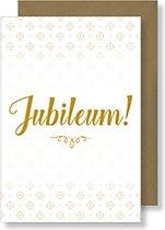 6x dubbele wenskaart met envelop - Jubileum - 11,5 x 17 cm