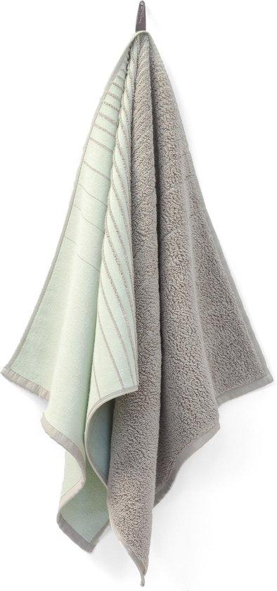TweeDoek mintgroen & warmgrijs, design handdoek en theedoek in één!
