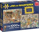Jan van Haasteren Een dagje naar het Museum - Legpuzzel - 2 x 1000 stukjes