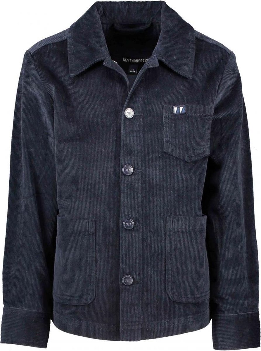 Seven-One-Seven Jongens blouses Seven-One-Seven Hen Long Sleeves Ribcord blazer shi Rich Blue 116