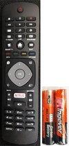 Vervangende afstandsbediening Philips voor alle Philips smart tv's met Netflix toets -