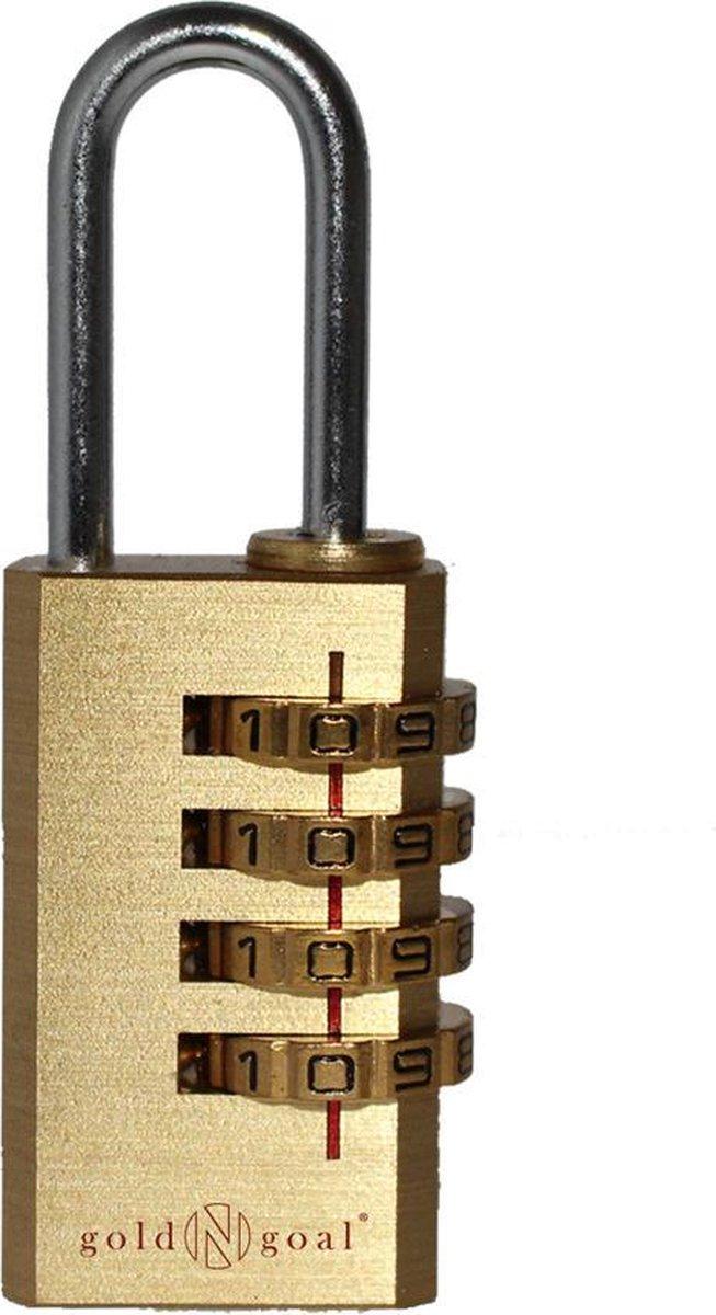 Gold N Goal 4 Cijferig Hangslot - Small - Sterk en weerbestendig - Hangslot met cijfersluiting   Ket