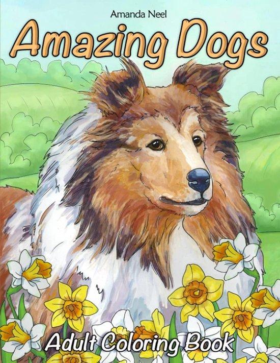 Afbeelding van Amazing Dogs Adult Coloring Book - Amanda Neel