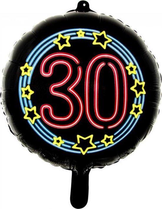 Wefiesta Folieballon 30 Neon 45 Cm Zwart