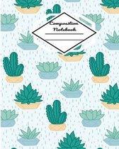 Composition Notebook: Green Cactus