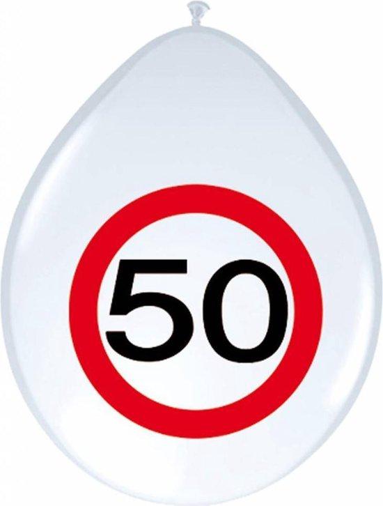 3BMT 50 jaar verjaardag versiering - ballonnen 50 jaar - 10 stuks